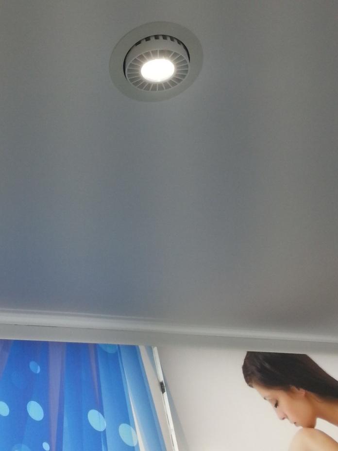 Detalle downlight LED en una Farmàcia de Mallorca España